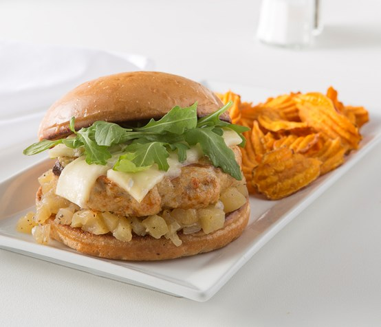 Apple and Onion Chicken Sandwich image