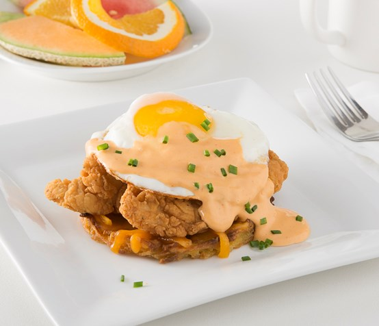 Chicken Fritter Potato Stack