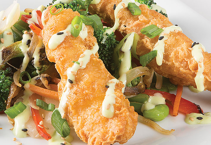 image of Wasabi-Lime Tempura Chicken
